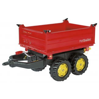 Big red trailer for toy pedal tractor